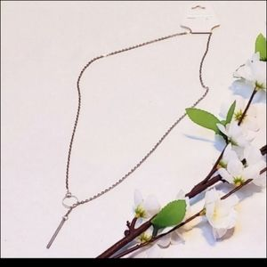 5 for $25 Lariat necklace in silver
